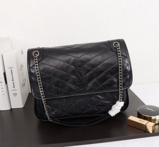 YSL Saint Laurent Niki Handbag Shoulder Bag 498893 Black