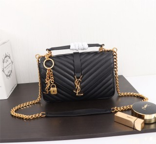 YSL Saint Laurent Medium Handbag Shoulder Bag F26611 Black