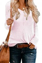 Pink V Neck Solid knit Pure Long Sleeve  Sweaters & Cardigans MMY01050