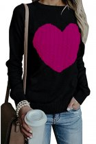 As Show O Neck Peach Heart knit Others Long Sleeve  Sweaters & Cardigans MMY01036