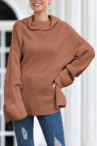 As Show Turtleneck Split Solid Acrylic Pure Long Sleeve  Sweaters & Cardigans MMY01020
