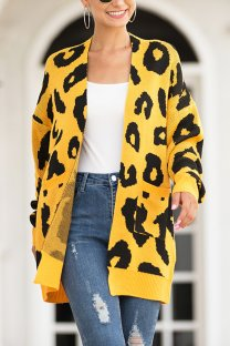 Yellow  Sweaters & Cardigans MMY01082