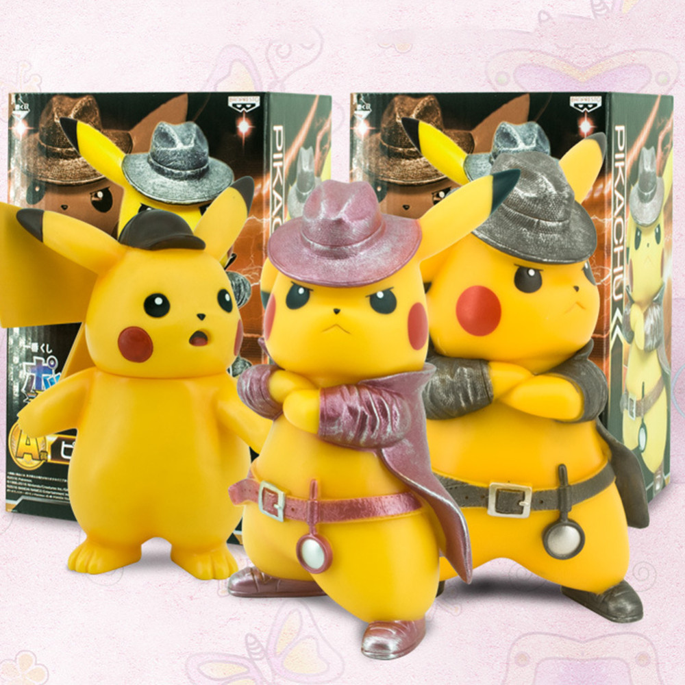 Detective Pikachu Action Figure Pokemon Garage Kit Model Collection