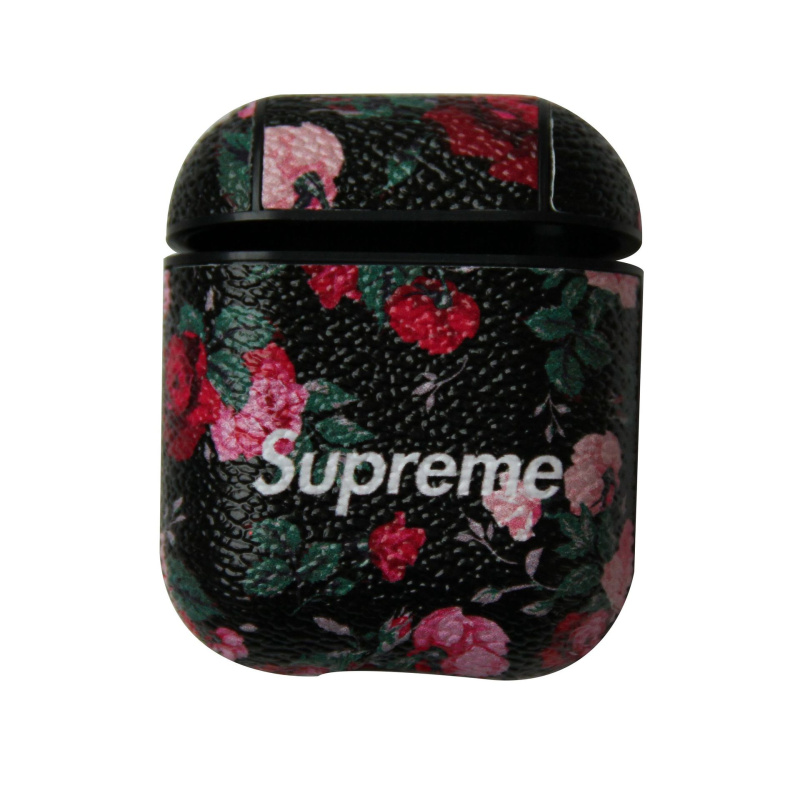 Buy Supreme AirPods Case Fashion Flower Apple Headphone Shockproof