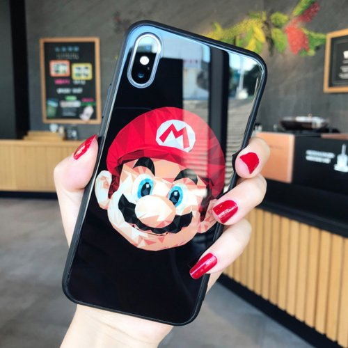 Buy Super Mario iPhone case Tempered glass Silicone Soft