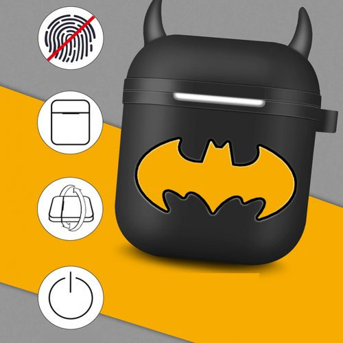cheap for discount 6d0c1 74c8a Little Devil Horn Batman Airpods case Apple Wireless Bluetooth Headset  Storage Box