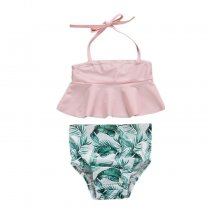 Fashion kids swimsuit children girls two pieces swimwear