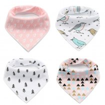 Cheap 100% Cotton Baby Bandana Drool Bibs Pack Of 4