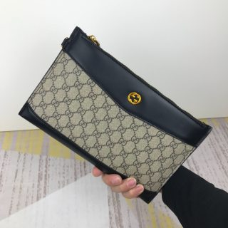 Gucci HOT New Classic Leather Man Handbag Wallet