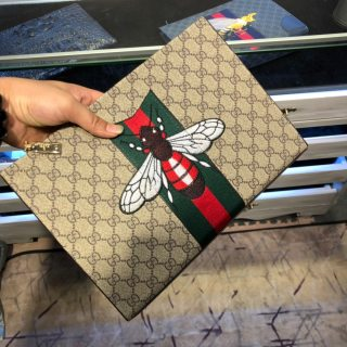 Gucci HOT new fashion high quality man bee embroidery handbags purse