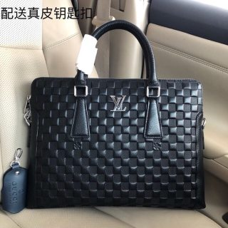 LV original single new high quality leather man handbag briefcase