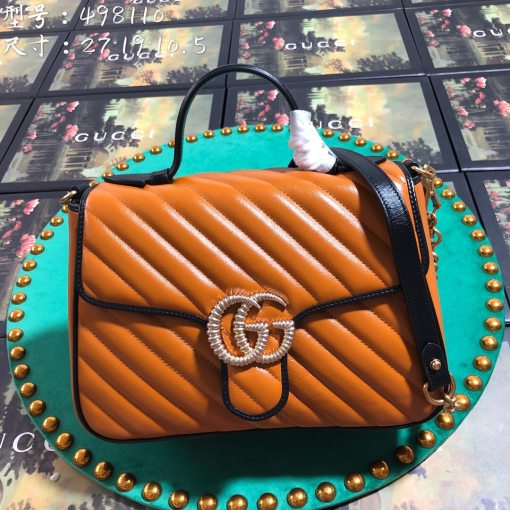 Gucci Original Top 498110 Cowhide Woman Handbag Shoulder Bag