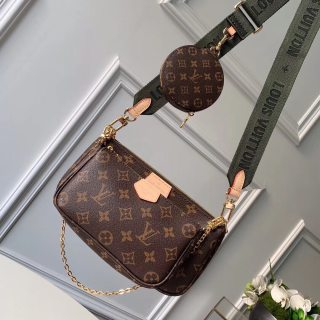 LV top original single high quality woman shoulder bag crossbody bag three-piece wallet