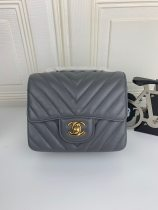 Chanel Classic Top Big V Woman Shoulder Bag Crossbody Bag Leather