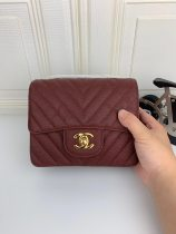 Chanel top big V woman shoulder bag messenger bag cowhide
