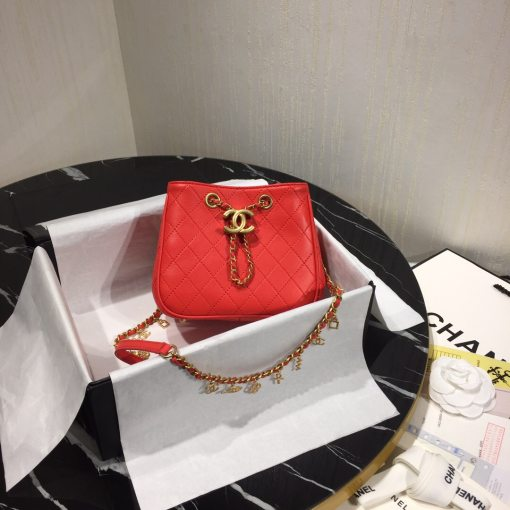 Chanel Top Original Woman Mini Shoulder Bag Bucket Bag