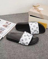 LV HOT Cowhide Classic Fashion Ladies Casual Flat Slippers