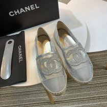 Chanel HOT Fashion High Quality Women Silver Net Casual Shoes