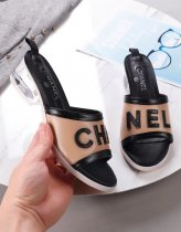 Chanel HOT Classic High quality woman High heel sandals slippers 3 cm high