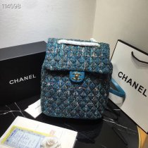 Chanel TOP woman weaving material backpack