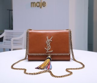 YSL hot new woman color oil wax leather shoulder bag