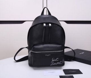 YSL hot high quality sheepskin black backpack bag