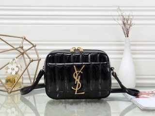 YSL hot new woman original patent leather camera bag shoulder bag