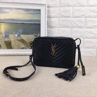YSL top Woman Fringe Original Single Leather Camera Bag Shoulder Bag