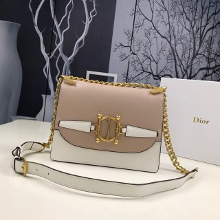 Dior designer new high quality leather woman shoulder bag +box