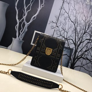 Dior HOT leather rivets decoration woman shoulder bag +box