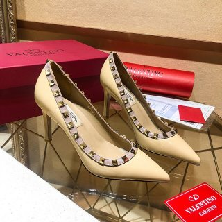 Valentino TOP Classic High quality woman rivets high heels 10 cm high