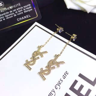 YSL Fashion 925 Silver High Quality Women Earrings Stud Earrings Jewelry