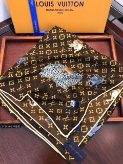 LV HOT Classic Fashion High Quality Woman Silk Small Square Scarf  140*140  CM