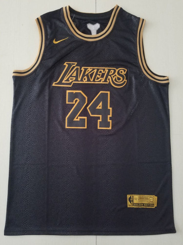 Los Angeles Lakers Kobe Bryant 24 Black City Edition Throwback Classics Basketball Jerseys