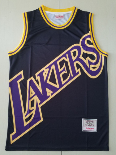 Los Angeles Lakers Black Throwback Classics Basketball Jerseys