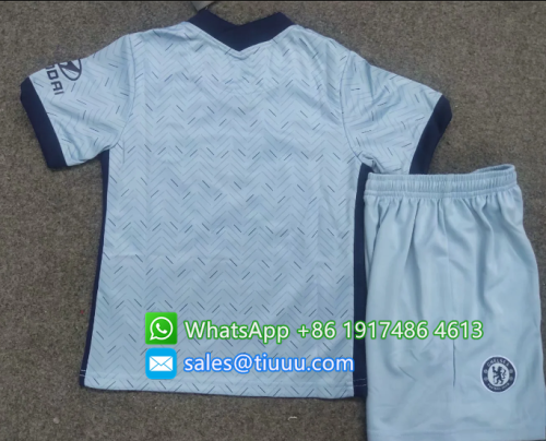 Chelsea 20/21 Kids Away Soccer Jersey and Short Kit