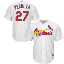 Men's Jhonny Peralta White Home Cool Base Player Jersey