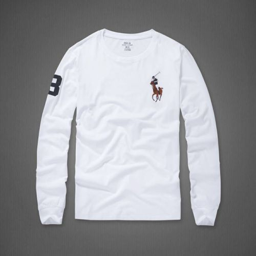 Men's Fashion Brands 2020 Fall Classics Long Sleeve Tee RL018