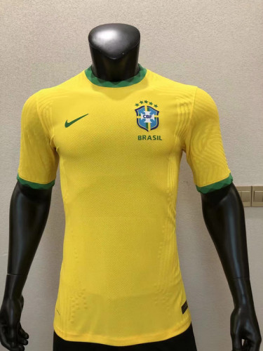 Player Version Brazil 2020 Home Authentic Jersey