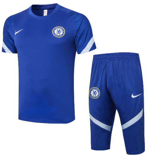Chelsea 20/21 Training Jersey and Short Kit -D301