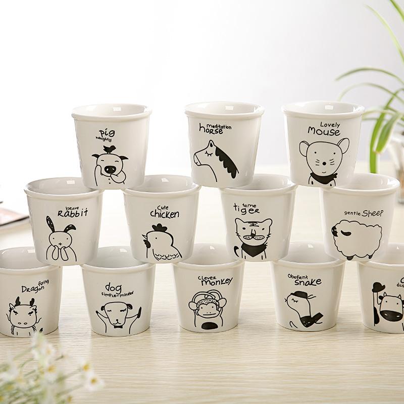 Cute Animal Ceramic Mini Milk Cup