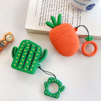 Carrot | Cactus shaped AirPods Wireless Earphone Silicon Storage Case