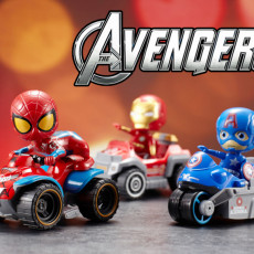 Marvel Avengers figures children's toy car