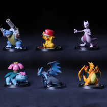 Pocket Monsters Pikachu figure Set of six car decoration