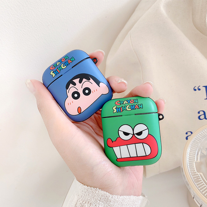 Crayon Shinchan Apple AirPod Case Cartoon dinosaur Wireless Bluetooth Earphone Cover
