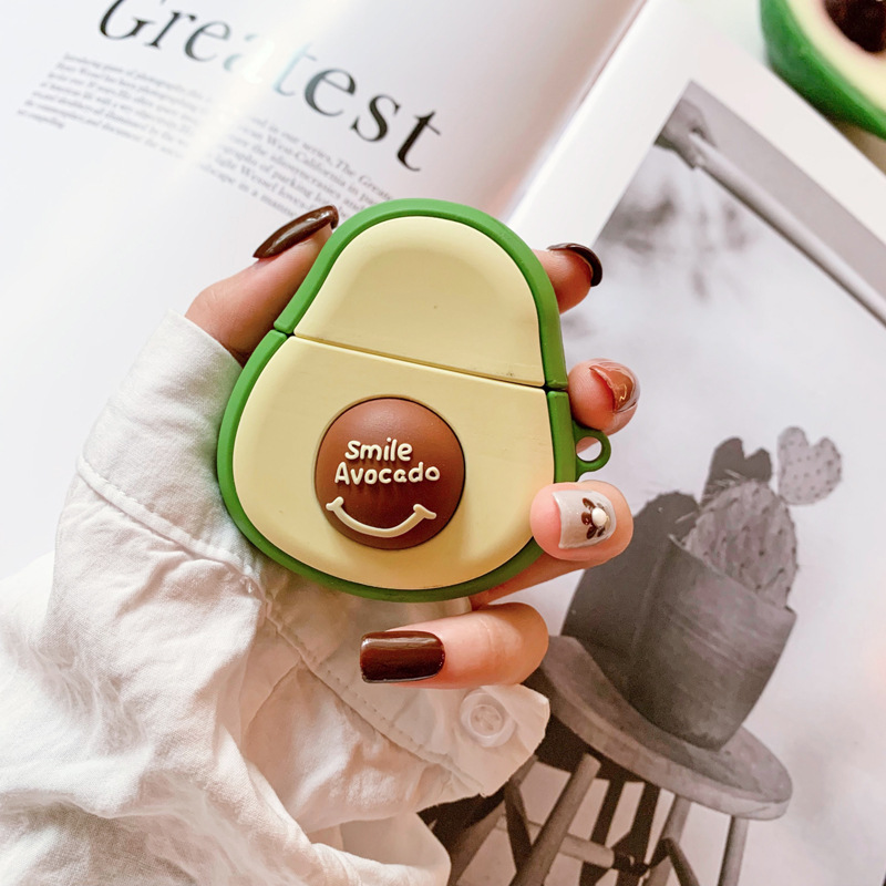 3D Avocado AirPods Case Wireless Apple Silicone Earphone Cover