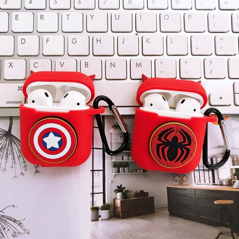 Avengers series Apple Airpods2 Case Disney sup design Wireless Bluetooth Headset shell