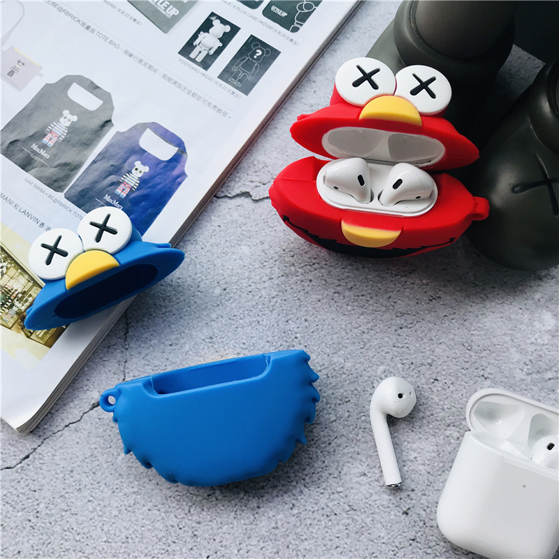 3D Sesame Cartoon Airpods Case Apple Airpods2 Bluetooth Headset Silicone Cover