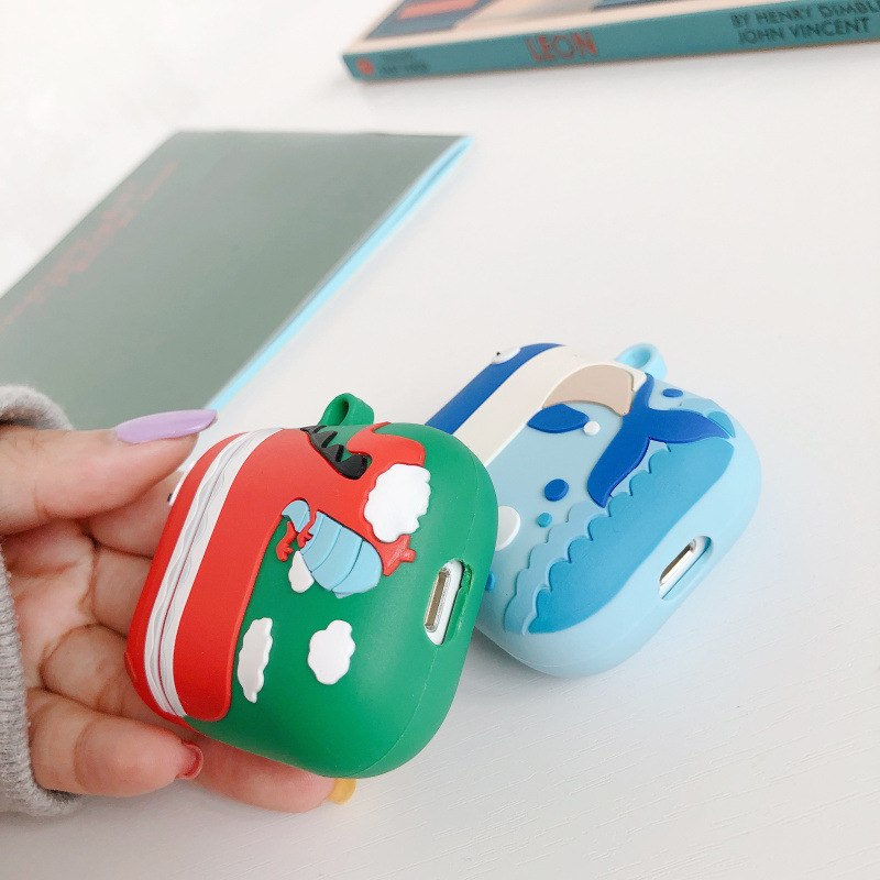 Whale Airpods Case Compatible for Apple Airpods 1&2 Best Gift for Girls or Couples Cover
