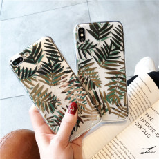 Bronzing leaves silicone iPhone case cool style  scratchproof  Xs Max Apple phone soft shell